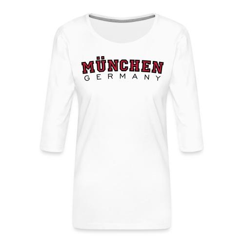 München Germany (Schwarz/Weiß) Deutschland - Frauen Premium 3/4-Arm Shirt