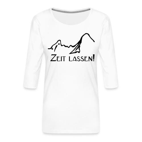 Watze-Zeitlassen - Frauen Premium 3/4-Arm Shirt