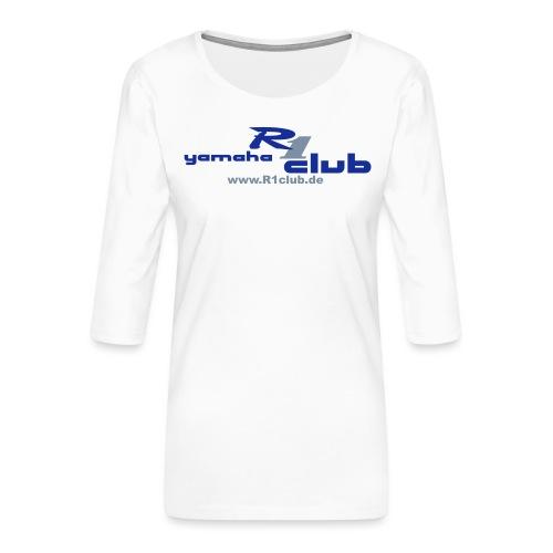 R1club Logo blau - Frauen Premium 3/4-Arm Shirt