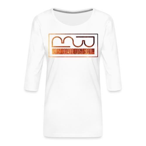 Cap logo Orange - Women's Premium 3/4-Sleeve T-Shirt