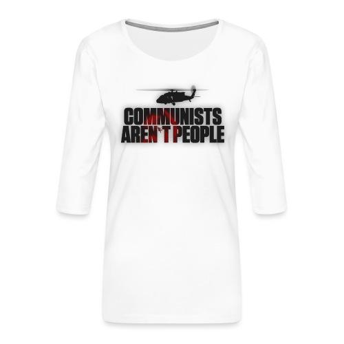 Communists aren't People (No uzalu logo) - Women's Premium 3/4-Sleeve T-Shirt