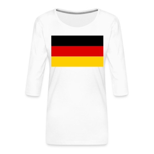 2000px Flag of Germany svg - Frauen Premium 3/4-Arm Shirt