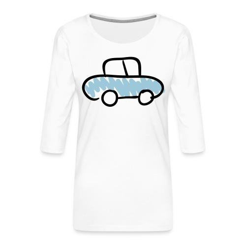 Car Line Drawing Pixellamb - Frauen Premium 3/4-Arm Shirt