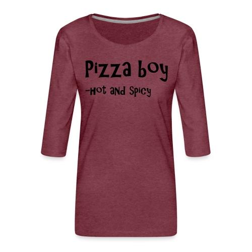 Pizza boy - Premium T-skjorte med 3/4 erme for kvinner