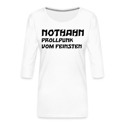 vorne - Frauen Premium 3/4-Arm Shirt
