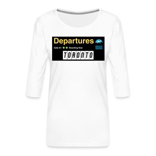 TORONTO png - Maglietta da donna premium con manica a 3/4