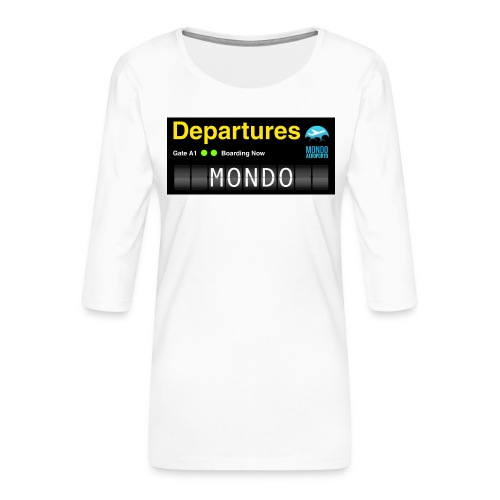 Departures MONDO jpg - Maglietta da donna premium con manica a 3/4