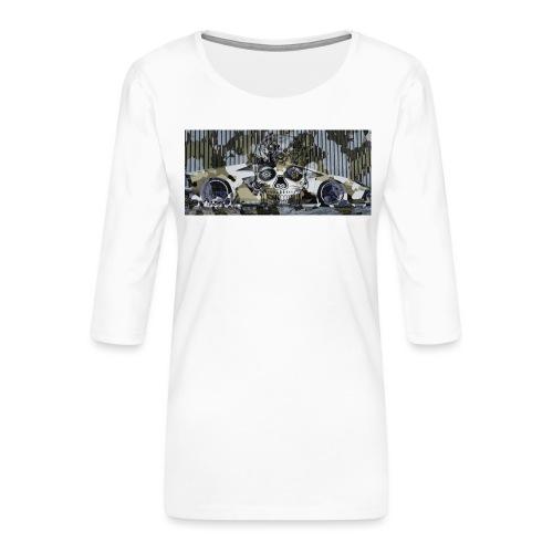 calavera style - Women's Premium 3/4-Sleeve T-Shirt