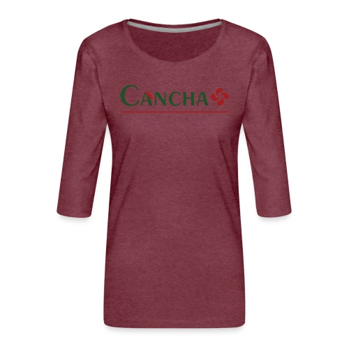 Cancha - T-shirt Premium manches 3/4 Femme