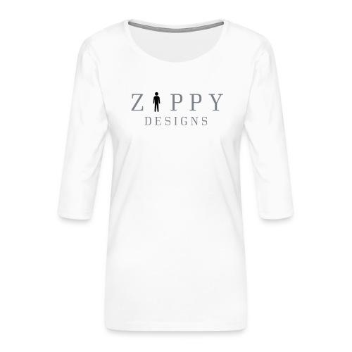 ZIPPY 2 - Camiseta premium de manga 3/4 para mujer