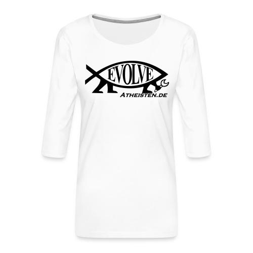 Atheisten Darwin Fish - Frauen Premium 3/4-Arm Shirt