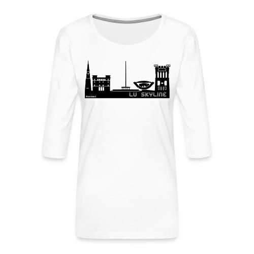 Lu skyline de Terni - Maglietta da donna premium con manica a 3/4