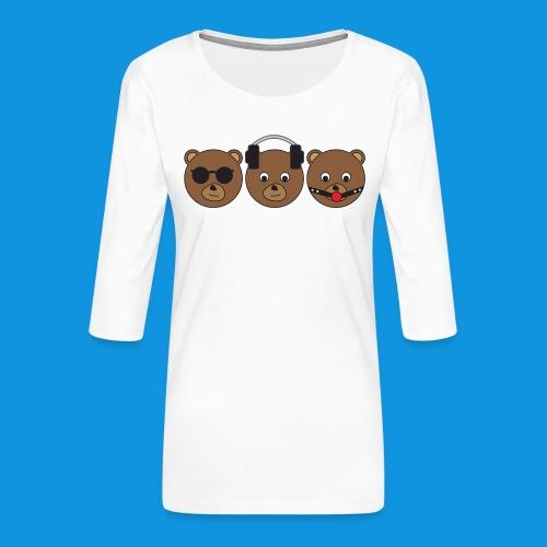 3 Wise Bears - Women's Premium 3/4-Sleeve T-Shirt