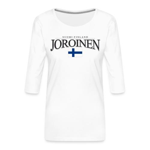 Suomipaita - Joroinen Suomi Finland - Naisten premium 3/4-hihainen paita