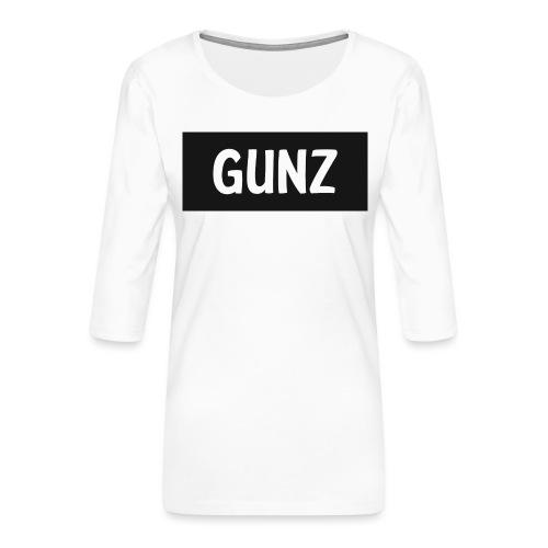 Gunz - Dame Premium shirt med 3/4-ærmer