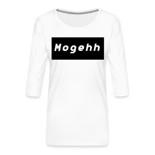Mogehh logo - Women's Premium 3/4-Sleeve T-Shirt