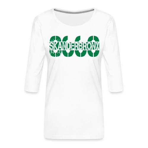 SKANDERBRONX - Dame Premium shirt med 3/4-ærmer