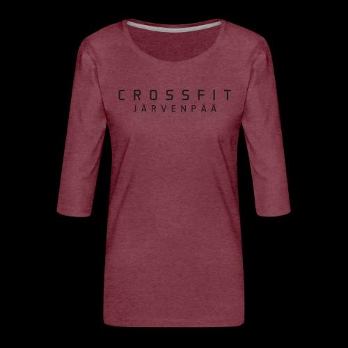 CrossFit Järvenpää mustateksti - Naisten premium 3/4-hihainen paita