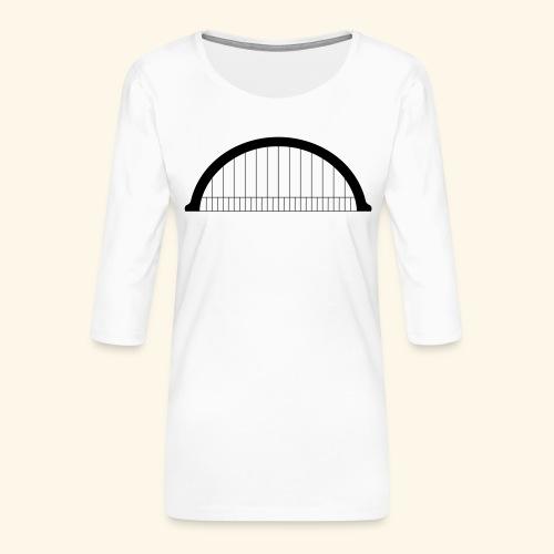 LOGOBOX Morlet - T-shirt Premium manches 3/4 Femme