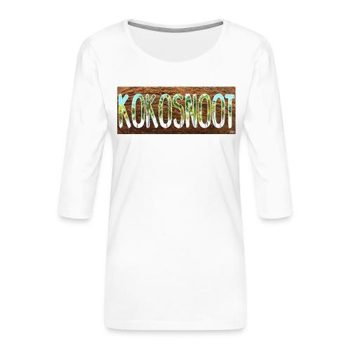 Kokosnoot - Vrouwen premium shirt 3/4-mouw