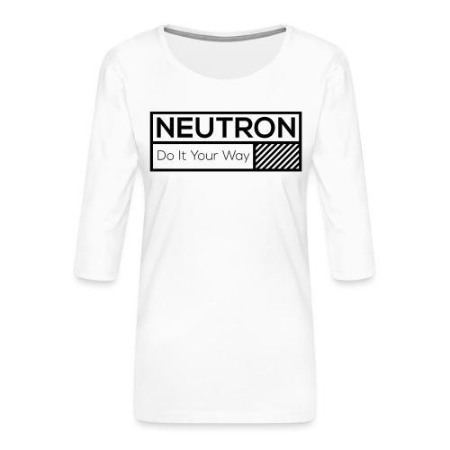 Neutron Vintage-Label - Frauen Premium 3/4-Arm Shirt