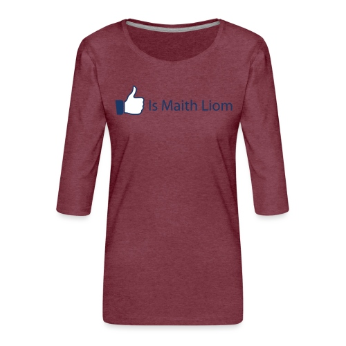 like nobg - Women's Premium 3/4-Sleeve T-Shirt