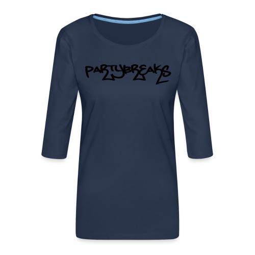 P-Breaks Schriftzug - Frauen Premium 3/4-Arm Shirt