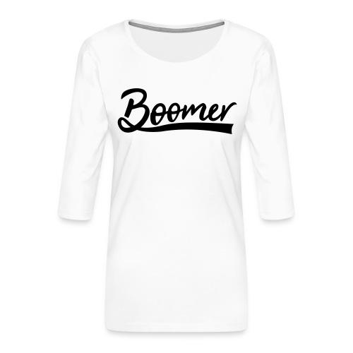 Boomer with 1 editable text color - Naisten premium 3/4-hihainen paita