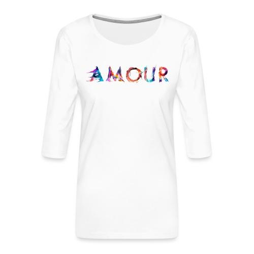 Amour - T-shirt Premium manches 3/4 Femme
