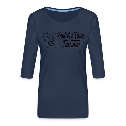 Nadel und Tinte Logo 1 - Frauen Premium 3/4-Arm Shirt