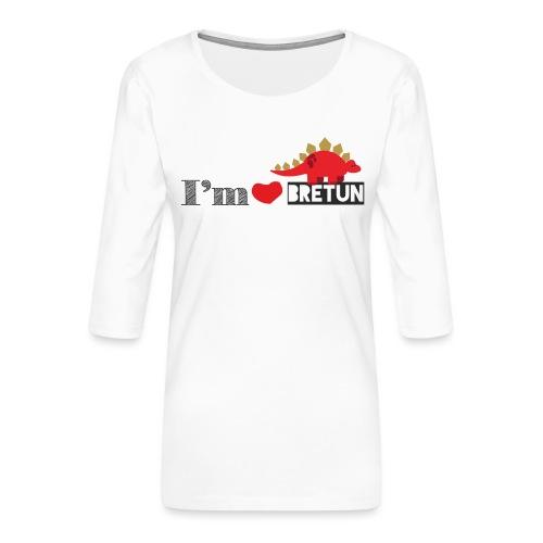 bretun negro - Camiseta premium de manga 3/4 para mujer
