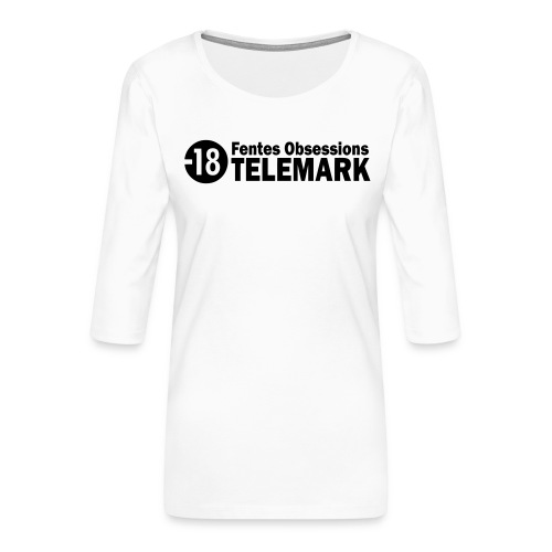 telemark fentes obsessions18 - T-shirt Premium manches 3/4 Femme
