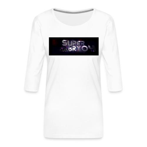 SUPERGABRY04 - Maglietta da donna premium con manica a 3/4