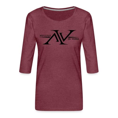 Nullius In Verba Logo - Women's Premium 3/4-Sleeve T-Shirt