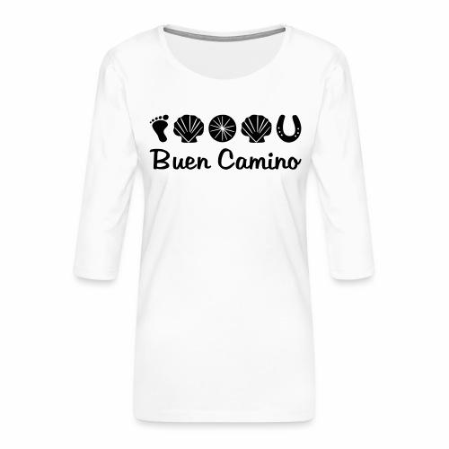 Buen_Camino_4 - Frauen Premium 3/4-Arm Shirt