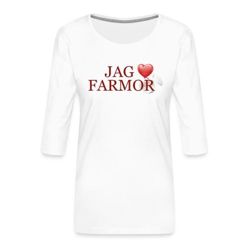 Jag älskar farmor - Premium-T-shirt med 3/4-ärm dam