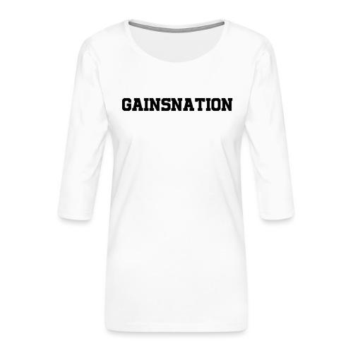 Kortärmad tröja Gainsnation - Premium-T-shirt med 3/4-ärm dam