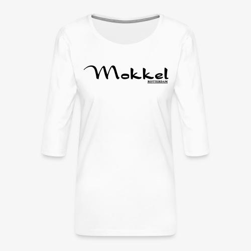 mokkel - Vrouwen premium shirt 3/4-mouw
