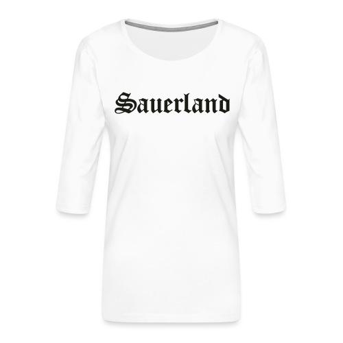 Sauerland - Frauen Premium 3/4-Arm Shirt
