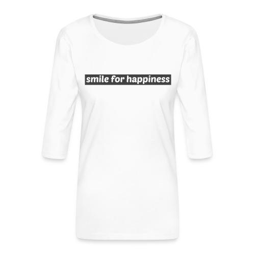 smile for happiness - Premium-T-shirt med 3/4-ärm dam
