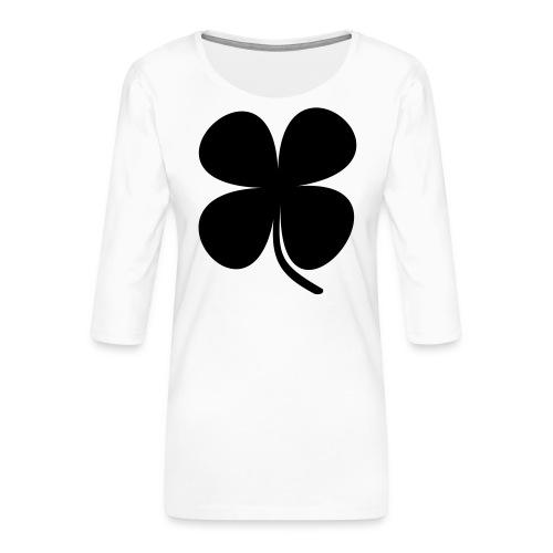 CLOVER - Camiseta premium de manga 3/4 para mujer
