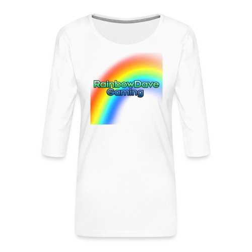 RainbowDave Gaming Logo - Women's Premium 3/4-Sleeve T-Shirt