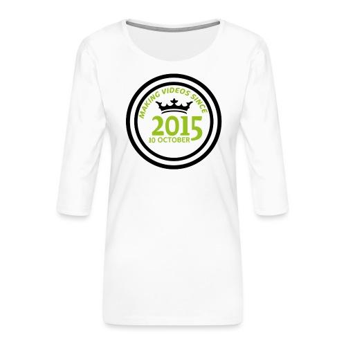 2015-10-10 - Premium-T-shirt med 3/4-ärm dam
