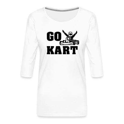 Go kart - T-shirt Premium manches 3/4 Femme