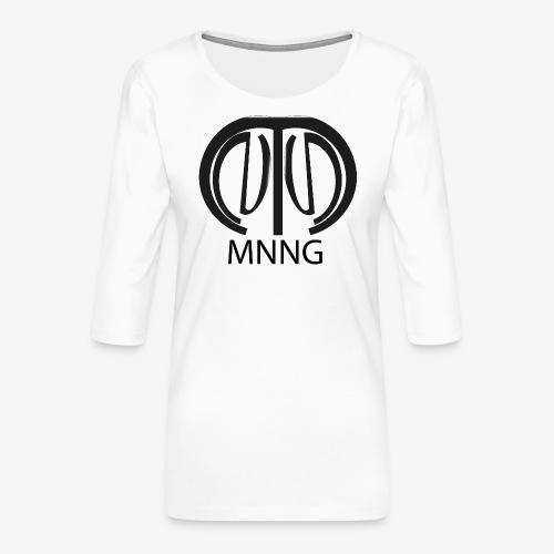 logo mnng V5 - Vrouwen premium shirt 3/4-mouw