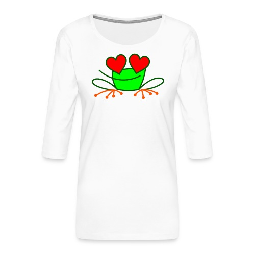 Frog in Love - Women's Premium 3/4-Sleeve T-Shirt