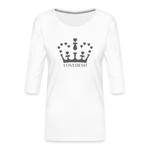 Lovedesh Crown (Dark Grey) - Women's Premium 3/4-Sleeve T-Shirt