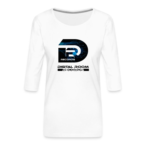 Digital Room Records Official Logo effect - Women's Premium 3/4-Sleeve T-Shirt
