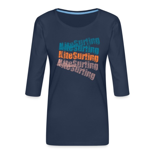 Kiteboard | Zensitivity beach - Vrouwen premium shirt 3/4-mouw