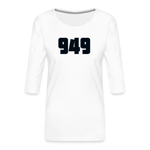 949black - Frauen Premium 3/4-Arm Shirt